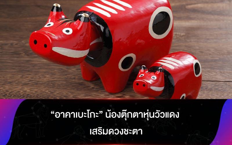 """""""อาคาเบะโกะ"""" น้องตุ๊กตาหุ่นวัวแดง เสริมดวงชะตา"""